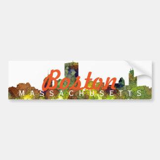Boston Mas .Skyline Safari Buff Bumper Sticker