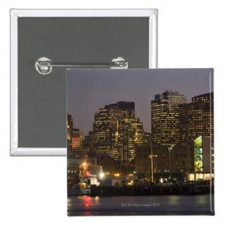 Boston, Masachusetts Skyline 2 Inch Square Button