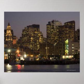 Boston, Masachusetts Skyline Posters