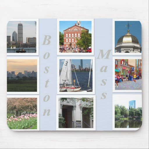 Boston Mass Collage Mouse Pad