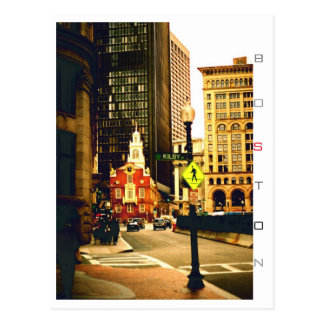 Boston, Mass. Kilby Street. Postcard