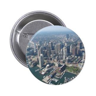 Boston Mass Skyline Pinback Buttons