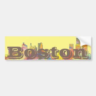 BOSTON MASS. SKYLINE MCLR2-Bumper Sticker