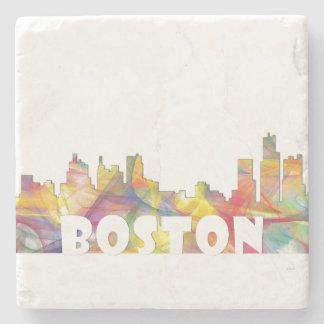 BOSTON MASS. SKYLINE MCLR2-Stone Coaster