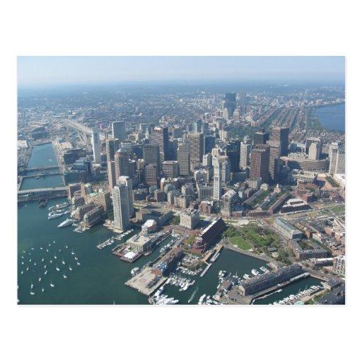 Boston Mass Skyline Post Cards