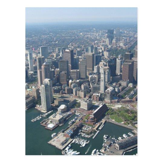 Boston Mass Skyline Postcard