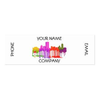 BOSTON MASS. SKYLINE PUDDLES - MINI BUSINESS CARD