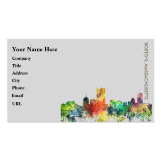 BOSTON MASS. SKYLINE SP - BUSINESS CARD
