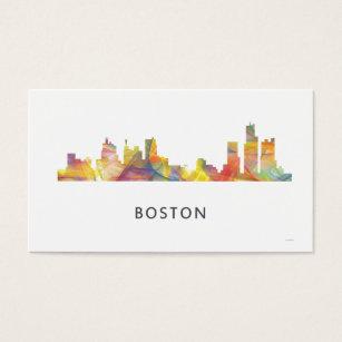 Boston skyline business cards templates zazzle boston mass skyline wb1 business card reheart Choice Image