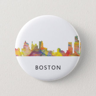 BOSTON MASS. SKYLINE WB1- BUTTON