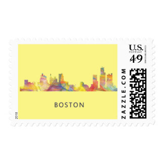 BOSTON MASS. SKYLINE WB1- STAMP