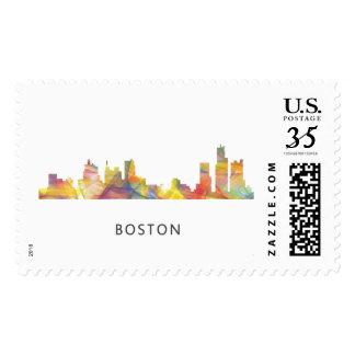 BOSTON MASS. SKYLINE WB1- POSTAGE STAMPS