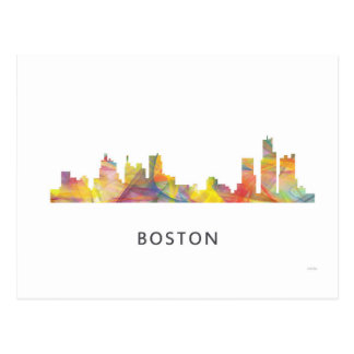 BOSTON MASS. SKYLINE WB1- POSTCARD