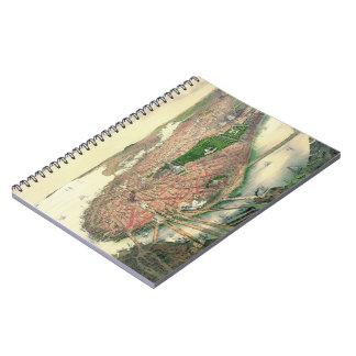 Boston Massachusetts 1877 Spiral Notebooks
