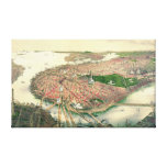 Boston Massachusetts 1877 Stretched Canvas Prints