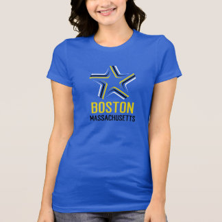 BOSTON MASSACHUSETTS 3D Star GRAPHIC tee