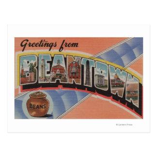Boston, Massachusetts (Bean Town) Postcard