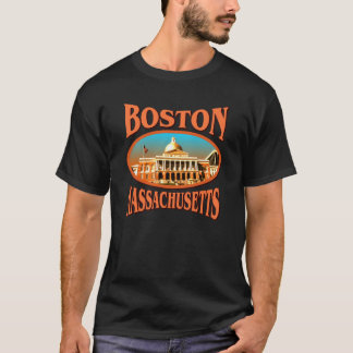 Boston Massachusetts Black T-shirt