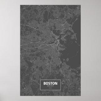 Boston, Massachusetts (blanco en negro) Póster