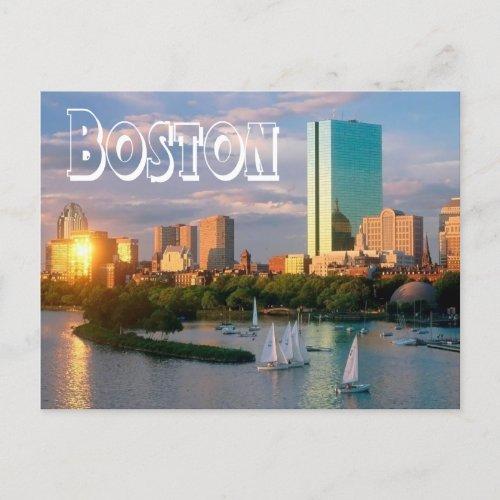 Boston Massachusetts _ Boston Harbor Post Card