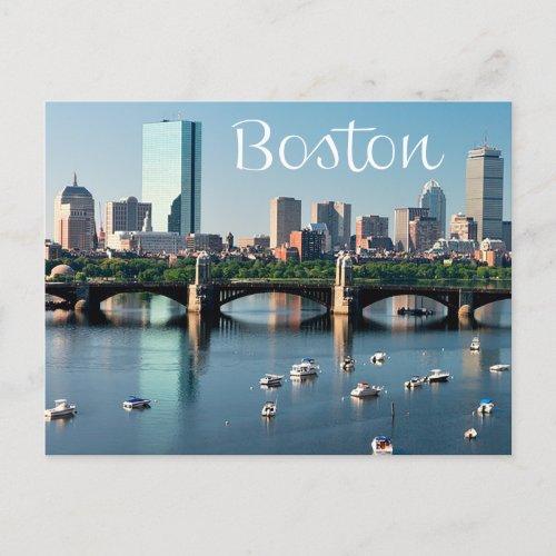 Boston Massachusetts _ Boston Skyline Post Card