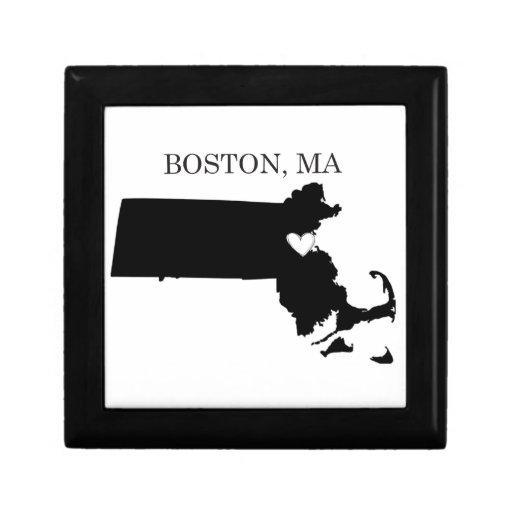 Boston Massachusetts Caja De Joyas