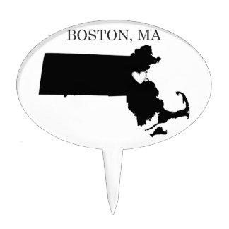 Boston Massachusetts Cake Toppers