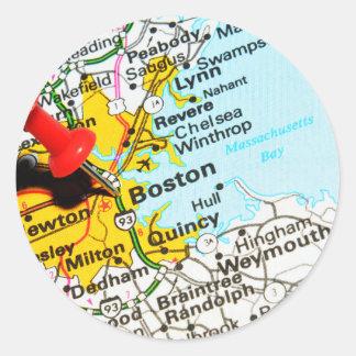 Boston, Massachusetts Classic Round Sticker