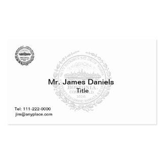 Boston Massachusetts Great Seal Business Card