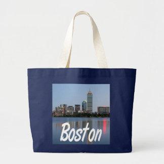 Boston Massachusetts Harbor Skyline Beach Tote Bag