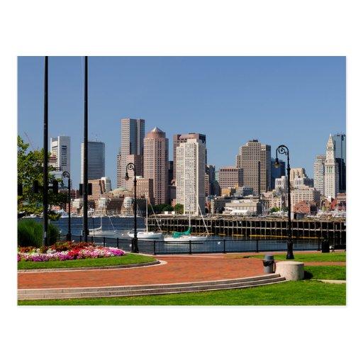 Boston Massachusetts, Harbor & Skyline  Postcard