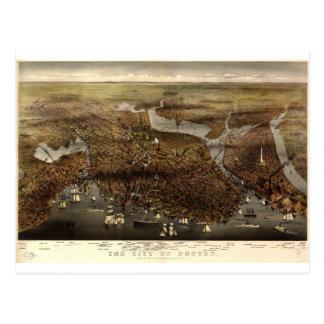 Boston, Massachusetts in 1873 Postcard