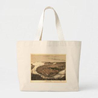 Boston, Massachusetts in 1877 Tote Bags