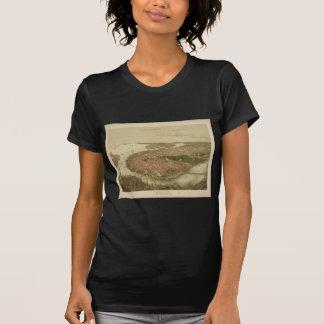 Boston Massachusetts in 1877 North Birds Eye View T-Shirt