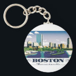 "Boston, Massachusetts Keychain<br><div class=""desc"">Boston is Massachusetts' capital and largest city. Founded in 1630, it's one of the oldest cities in the U.S. The key role it played in the American Revolution is highlighted on the Freedom Trail, a 2.5-mile walking route of historic sites that tells the story of the nation's founding. One stop,...</div>"