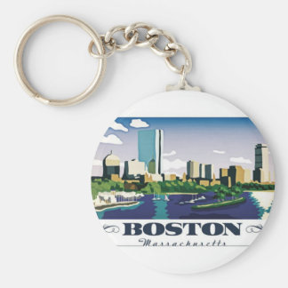 Boston, Massachusetts Keychain