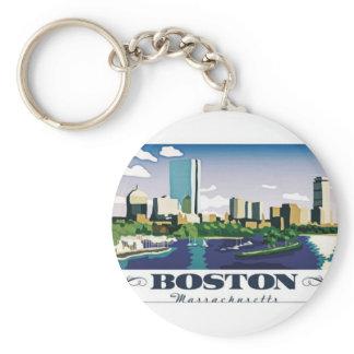 Boston, Massachusetts Keychain