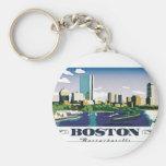 Boston, Massachusetts Llavero Redondo Tipo Pin