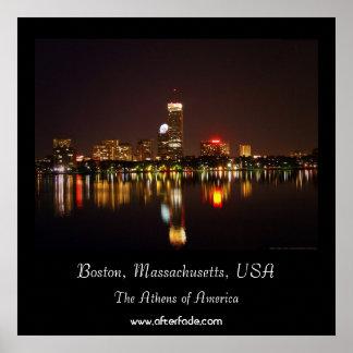 Boston, Massachusetts, los E.E.U.U. Póster