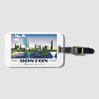 Boston, Massachusetts Luggage Tag