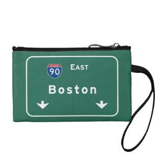 Boston Massachusetts ma Interstate Highway Road : Change Purse