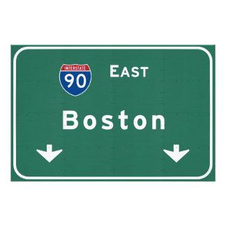 Boston Massachusetts ma Interstate Highway Road : Photo Print