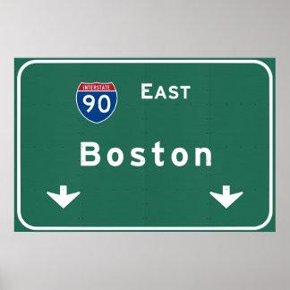 Boston Massachusetts ma Interstate Highway Road : Poster