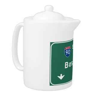 Boston Massachusetts ma Interstate Highway Road : Teapot