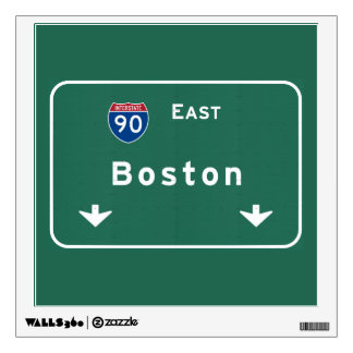 Boston Massachusetts ma Interstate Highway Road : Wall Decal