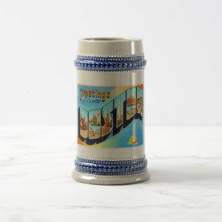 Boston Massachusetts MA Vintage Travel Souvenir Beer Stein