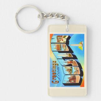 Boston Massachusetts MA Vintage Travel Souvenir Keychain