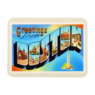 Boston Massachusetts MA Vintage Travel Souvenir Magnet