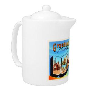 Boston Massachusetts MA Vintage Travel Souvenir Teapot