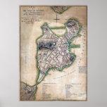 Boston Massachusetts Map 1775 by Thomas Hyde Page Poster